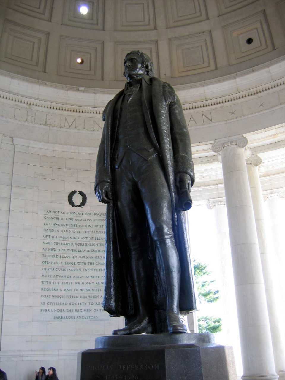 Thomas Jefferson statue in the Jefferson Memorial.  I hope one day the Diamond of Pantheos can be found, and Mecha-Jefferson walks across the tidal basin and destroys the FDR memorial.