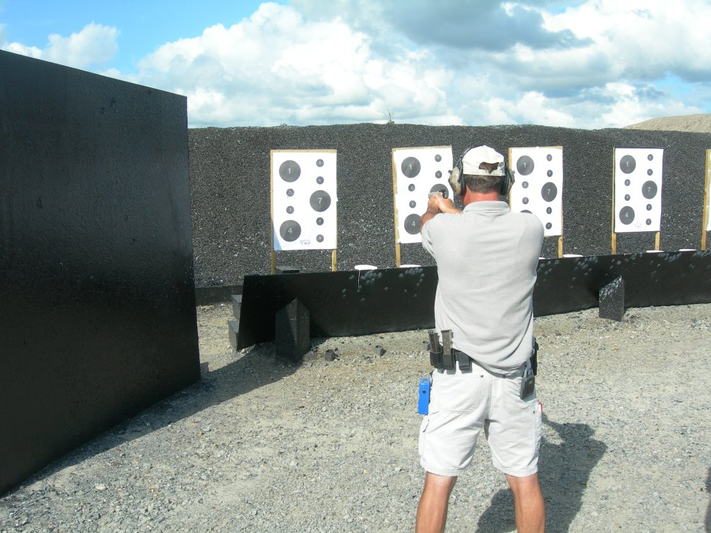 Todd shows us how it's done on the paper targets.