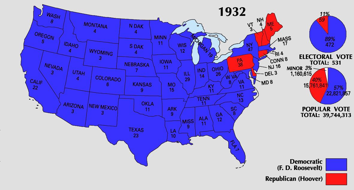 1932 Electoral Map