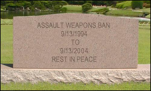 Assault Weapons Ban Tombstone
