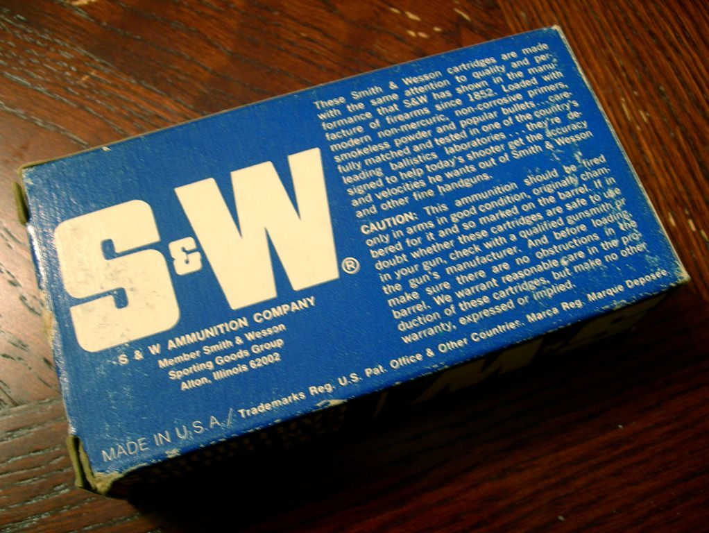Smith & Wesson Ammo Back View