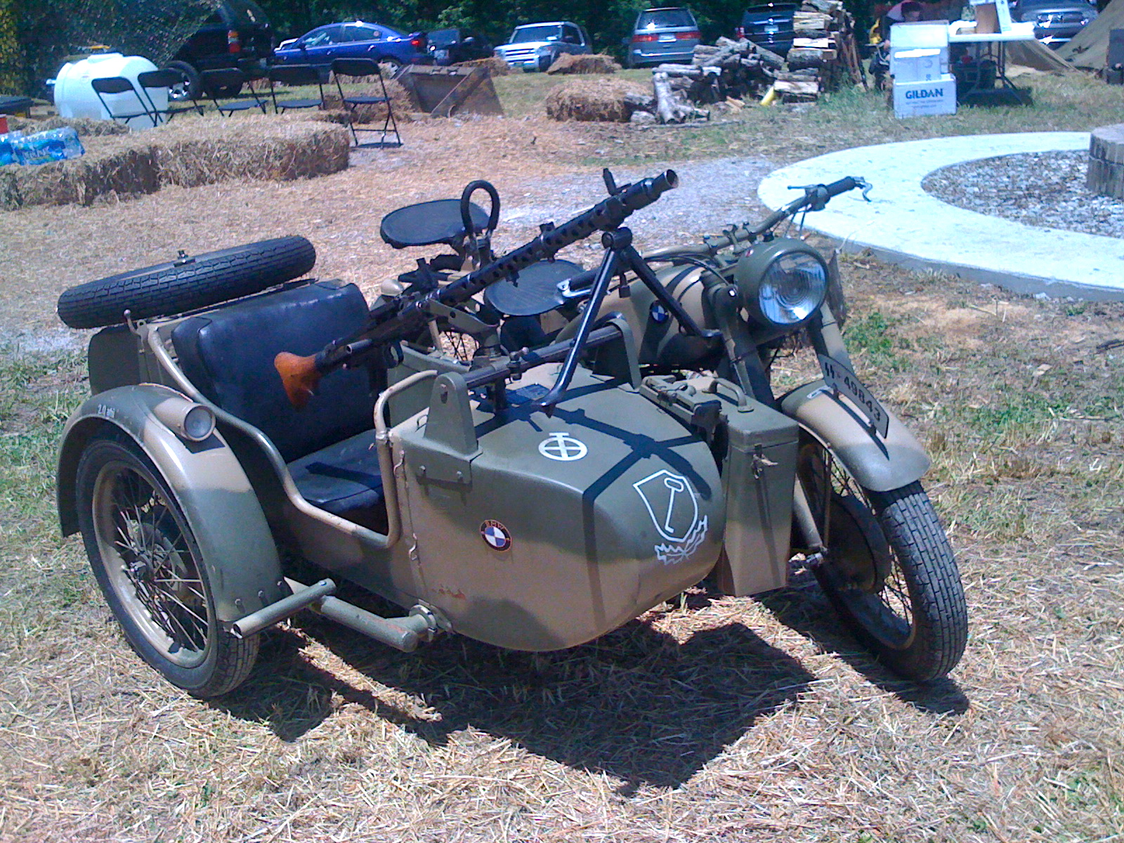 World War 2 Motorcycle With Sidecar