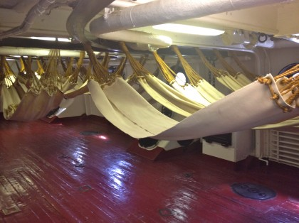 Enlisted Hammocks, USS Olympia