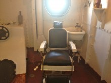 The Dentist Chair abord the USS Olympia.