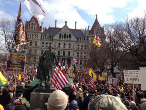 Gun Rights Rally in Albany