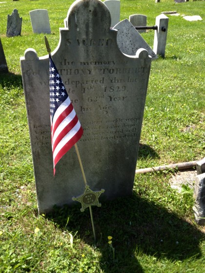 Grave Marker of Col. Anthony Torbert