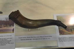 Powder Horn of  Joseph Chaffin, Minuteman at Concord Bridge, 19 Apr. 1775