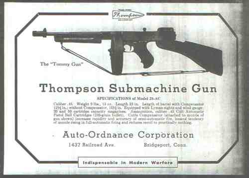 Thompson Submachine Ad