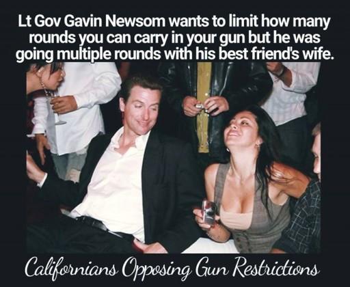 Gavin Newsom on Guns