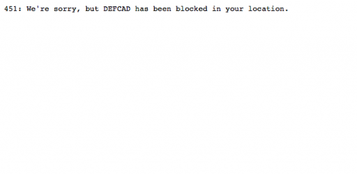 Defense Distributed Shut Down in PA