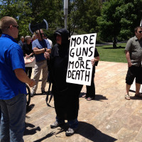 Guns Kill Sign Appears Locally