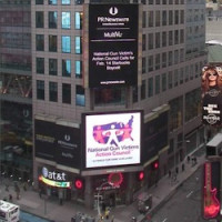 NGVAC Ad in Times Square on Starbucks Protest